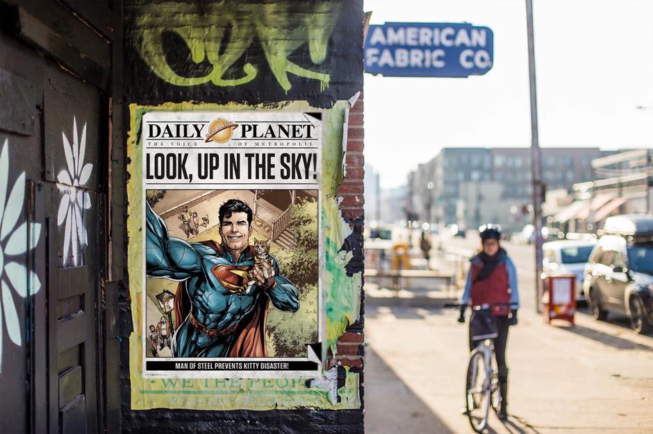 Superman Poster auf Hauswand