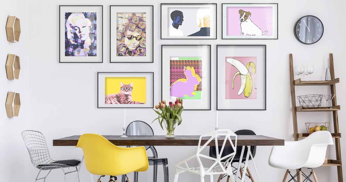 Verleih deinem Zuhause einen Touch Pop Art!