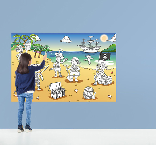 Pirate Bay - COLOUR IT YOURSELF Wallpaper Mural; 29,90 €