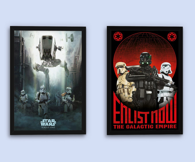 Stormtrooper Patrol Poster and Rogue One: Star Wars Story - Enlist Now and Rogue One: Star Wars Story - Stormtrooper Patrol Posters; Special price: 5,99 € each