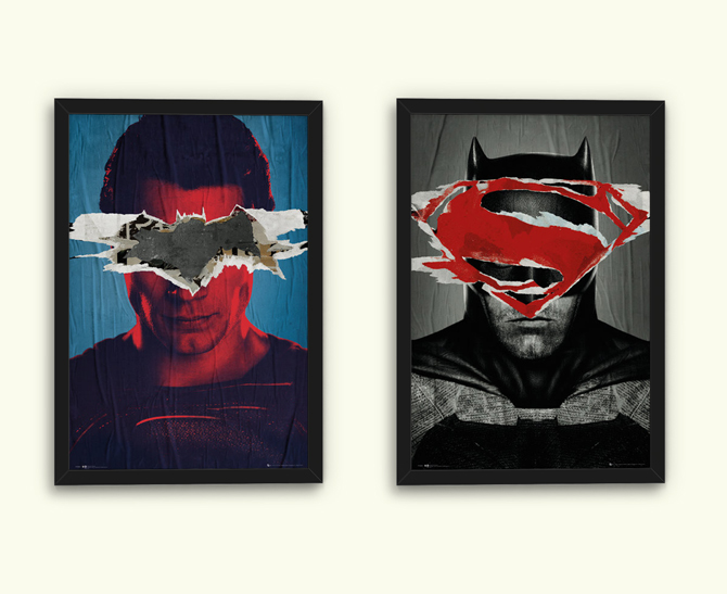 Batman vs. Superman - Batman Teaser and Superman Teaser Posters; 5,99 € each