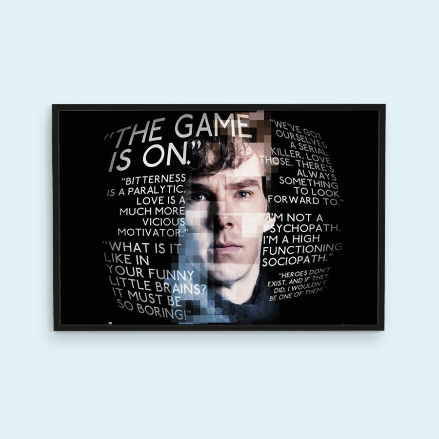 Sherlock Quotes Poster; €5,99