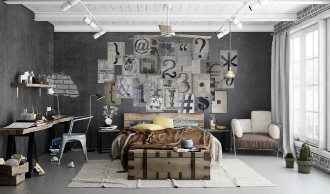 Typography Wallpaper Mural; 59,90 €