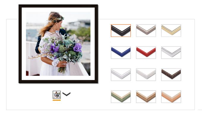 Valitse kehyksesi yli 50 tyylin ja värin joukosta.