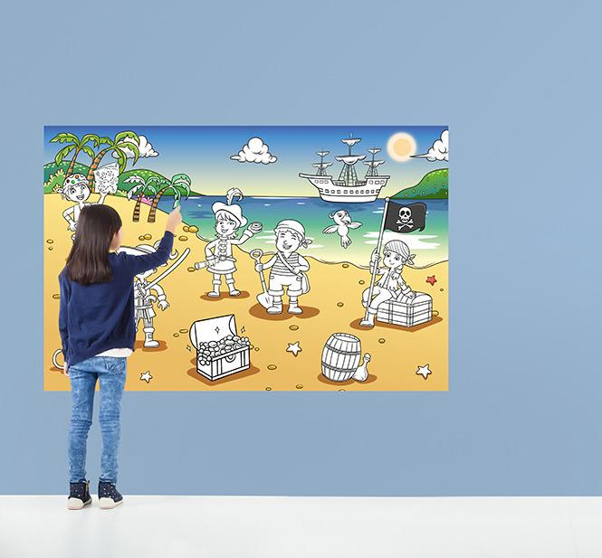 Pirate Bay - väritä itse värityskuvatapetti, 29,90€