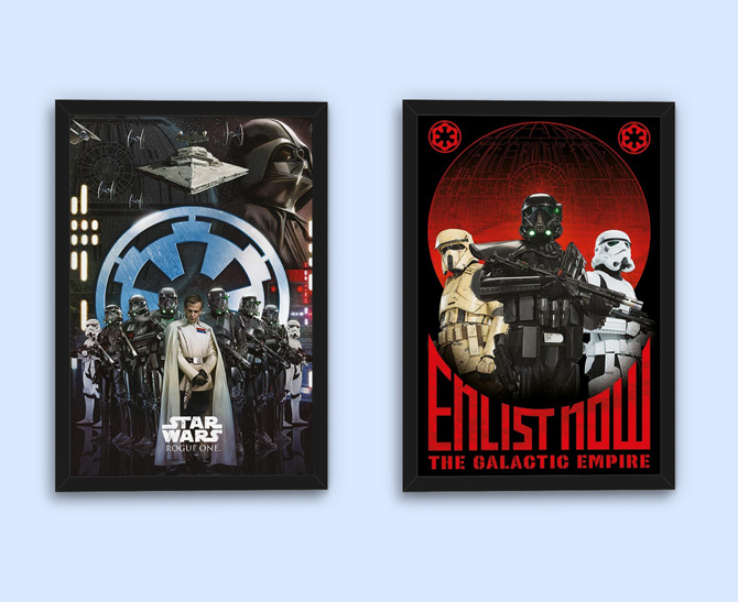 Rogue One: Star Wars Story – Empire ja Enlist Now julisteet; 5,99€/kpl