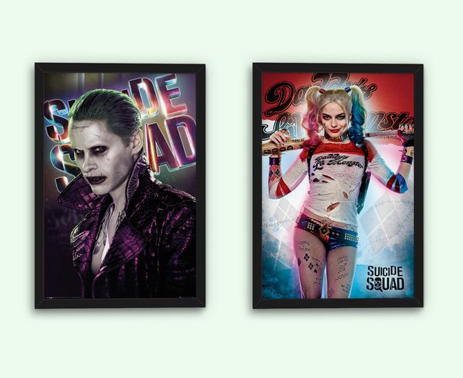 Suicide Squad – Jokeri ja Daddy's Lil Monster julisteet; 5,99€/kpl