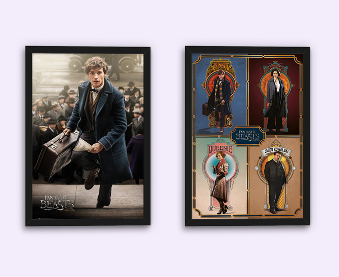 Fantastic Beasts – Lisko Scamander ja Framed Cast julisteet; 5,99€/kpl