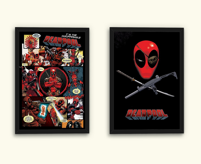 Deadpool – Panels ja Eye Patch julisteet; 5,99€/kpl