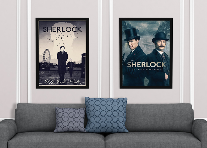 Sherlock – Lontoo ja The Abominable Bride julisteet; 5,99€/kpl