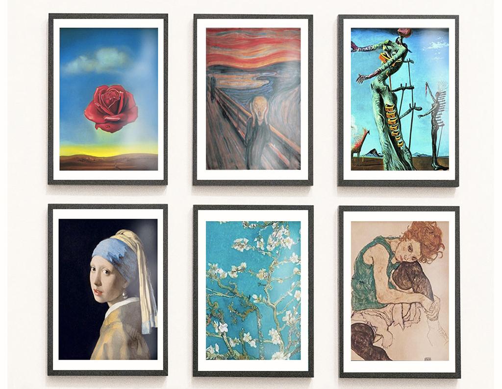 Inspiraatio: Tunnetut taidemaalarit kotonasi