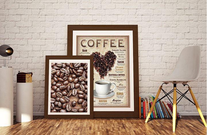 Grains de café en poster