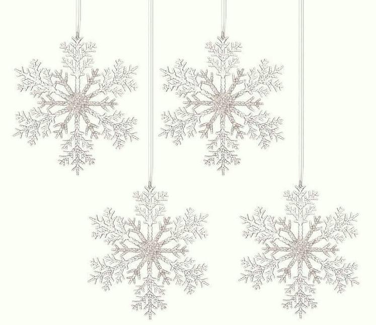Décoration : Décoration de flocon de neige de Noël ; Ensemble de quatre prix 18.21 €