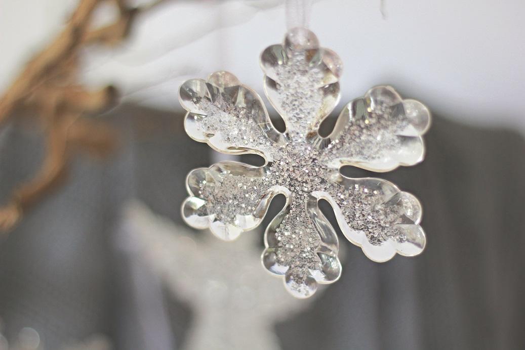 Décoration : Flocon de neige de Noël ; Ensemble de quatre prix 15.78 €