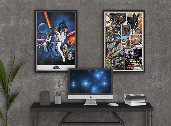 [Star Wars Una Nuova Speranza e Retro Comic Posters]