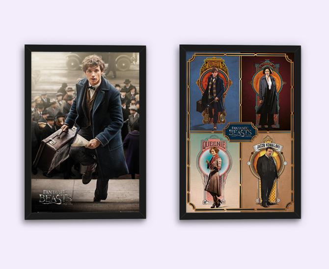 Fantastic Beasts – Newt Scamander e Poster del Cast con cornice; 5,99 € ognuno