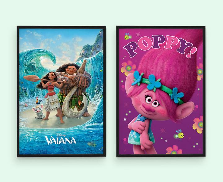 """Plakaty z filmów """"Trolle"""" i """"Vaiana: Skarb oceanu"""" za 17,90 zł!"""