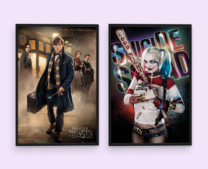"""Plakaty z filmowych hitów """"Fantastyczne zwierzęta i jak je znaleźć"""" i """"Suicide Squad"""" już od 8,95 zł!"""