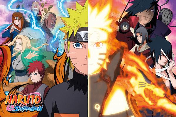 Naruto Shippuden – Split Poster; każdy za 17,90 zł