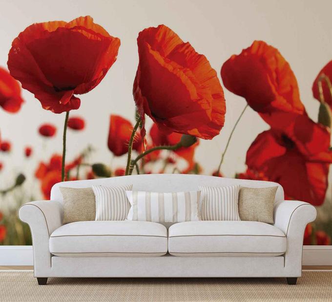 Inspiracje: Wiosna w pełni! Radosne dekoracje ścian dzięki kwiatowym motywom