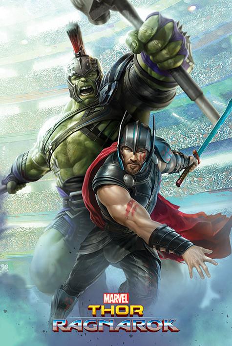 Plakat Thor: Ragnarok - Thor And Hulk za 17,90 zł