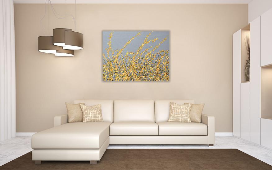 Art Canvas Print Simon Fairless – Yellow Blossom 80×60