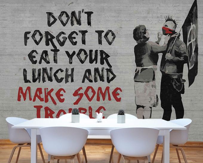 Fototapeta Banksy Graffiti; różne rozmiary i ceny