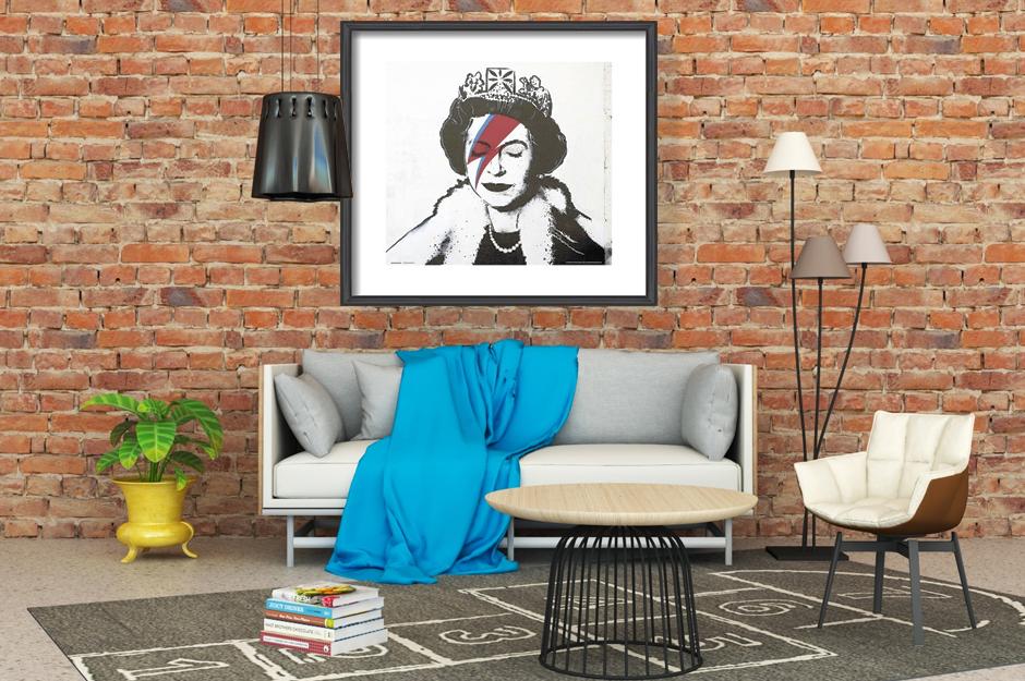 Banksy - Queen Bowie Obrazová reprodukcia