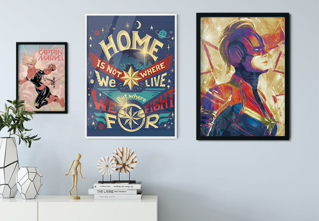 Obraz na plátne Captain Marvel - Paint