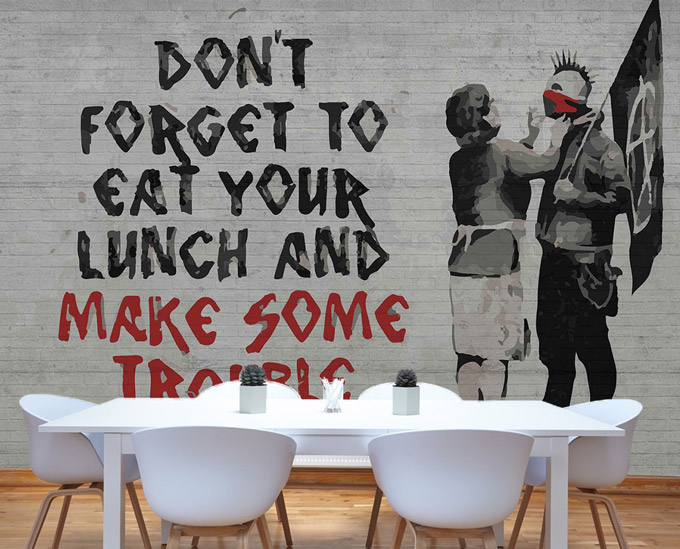5 faktů o: Banksy a jeho pouliční graffiti umění