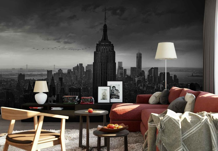 New York Rockefeller View Wallpaper Mural
